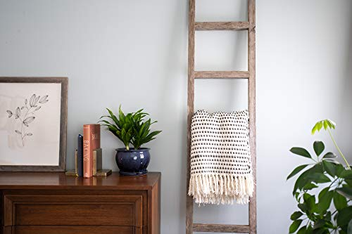 BarnwoodUSA Rustic Farmhouse Decorative Ladder Our 4 Ft Ladder Can Be Mounted Horizontally Or Vertically And Is Crafted From 100 Recycled And Reclaimed Wood No Assembly Required White Wash 0 0