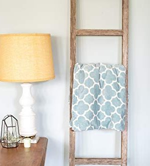 BarnwoodUSA Rustic Farmhouse Decorative Ladder Our 4 Ft Ladder Can Be Mounted Horizontally Or Vertically And Is Crafted From 100 Recycled And Reclaimed Wood No Assembly Required White Wash 0 1 300x333
