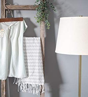 BarnwoodUSA Rustic Farmhouse Decorative Ladder Our 4 Ft Ladder Can Be Mounted Horizontally Or Vertically And Is Crafted From 100 Recycled And Reclaimed Wood No Assembly Required White Wash 0 3 300x333