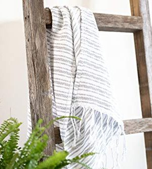 BarnwoodUSA Rustic Farmhouse Decorative Ladder Our 4 Ft Ladder Can Be Mounted Horizontally Or Vertically And Is Crafted From 100 Recycled And Reclaimed Wood No Assembly Required White Wash 0 4 300x333