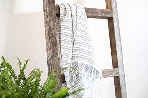 BarnwoodUSA Rustic Farmhouse Decorative Ladder Our 4 Ft Ladder Can Be Mounted Horizontally Or Vertically And Is Crafted From 100 Recycled And Reclaimed Wood No Assembly Required White Wash 0 4