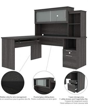 Bestar Dayton Collection Executive Office L Shaped Desk With Pedestal And Hutch 0 2 300x360