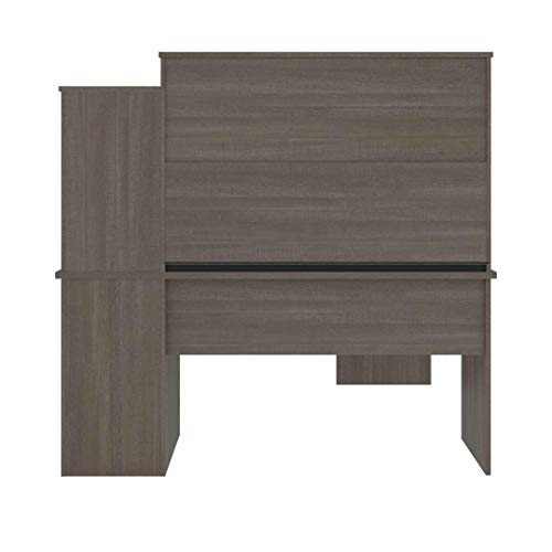 Bestar Dayton Collection Executive Office L Shaped Desk With Pedestal And Hutch 0 4