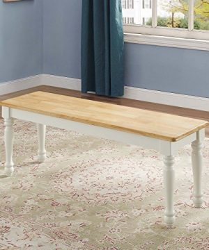 Better Homes Gardens Lane Farmhouse Bench 1 White And Natural 0 300x360