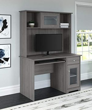Bush Furniture Cabot Small Computer Desk With Hutch And Keyboard Tray 48W Modern Gray 0 0 300x360