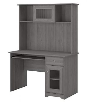 Bush Furniture Cabot Small Computer Desk With Hutch And Keyboard Tray 48W Modern Gray 0 300x360