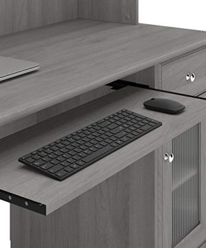 Bush Furniture Cabot Small Computer Desk With Hutch And Keyboard Tray 48W Modern Gray 0 4 300x360