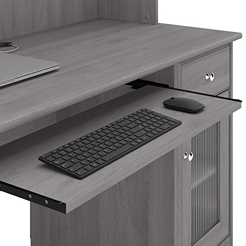 Bush Furniture Cabot Small Computer Desk With Hutch And Keyboard Tray 48W Modern Gray 0 4