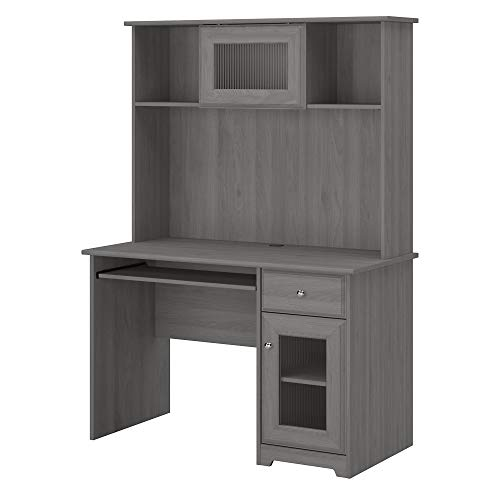 Bush Furniture Cabot Small Computer Desk With Hutch And Keyboard Tray 48W Modern Gray 0