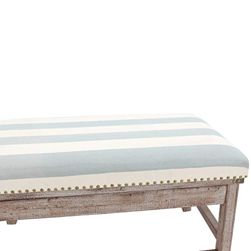 Decor Therapy Farley Upholstered Weathered Ottoman 3543x2008x1969 Driftwood 0 1