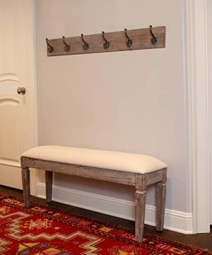 Decor Therapy Waverly Wood Bench With Coat Rack Set Measures 42x118x1775 Winter White 0 0 300x360