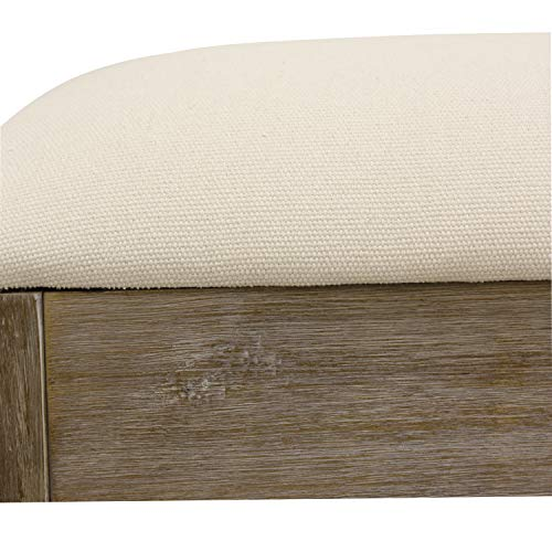 Decor Therapy Waverly Wood Bench With Coat Rack Set Measures 42x118x1775 Winter White 0 1