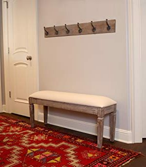 Decor Therapy Waverly Wood Bench With Coat Rack Set Measures 42x118x1775 Winter White 0 2 300x344