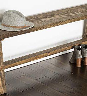 Del Hutson Designs Classic Simple Sophistication Solid Wood Bench By Del Hutson Designs Dark Walnut 0 300x332