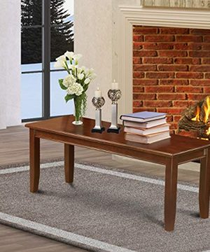 Dudley Dining Bench With Wood Seat In Mahogany Finish 0 300x360