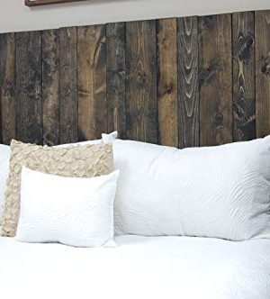 Ebony Headboard King Size Stain Leaner Style Handcrafted Leans On Wall Easy Installation 0 1 300x332