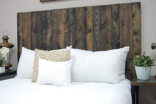 Ebony Headboard King Size Stain Leaner Style Handcrafted Leans On Wall Easy Installation 0 1