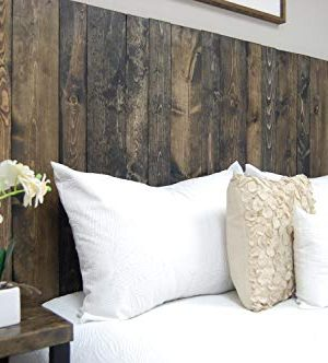 Ebony Headboard King Size Stain Leaner Style Handcrafted Leans On Wall Easy Installation 0 2 300x332