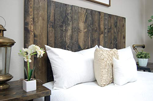 Ebony Headboard King Size Stain Leaner Style Handcrafted Leans On Wall Easy Installation 0 2