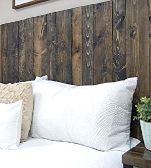 Ebony Headboard King Size Stain Leaner Style Handcrafted Leans On Wall Easy Installation 0 3 300x332