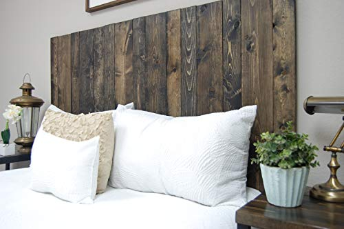 Ebony Headboard King Size Stain Leaner Style Handcrafted Leans On Wall Easy Installation 0 3