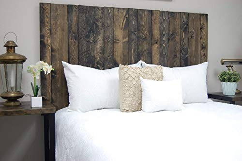 Ebony Headboard King Size Stain Leaner Style Handcrafted Leans On Wall Easy Installation 0