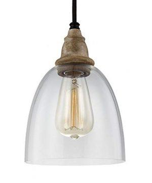 Feiss P1394DFWDWZ Matrimonio Glass Pendant Lighting Brown 1 Light 6Dia X 9H 60watts 0 300x360