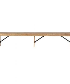 Flash Furniture HERCULES Series 8 X 12 Antique Rustic Solid Pine Folding Farm Bench With 3 Legs 0 2 300x360