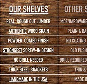 Imperative Decor Floating Shelves Rustic Wood Wall Shelf USA Handmade Set Of 2 Grey 24 X 55 0 3 300x290