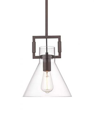 Industrial Vintage Glass Pendant Light HWH Farmhouse Hanging Pendant Lighting For Kitchen Island Modern Hanging Lights With Adjustable Height Oil Rubbed Bronze 5HZG21 M1L ORB 0 300x360