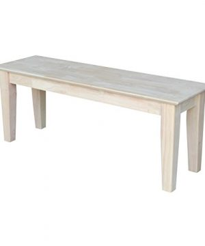 International Concepts Shaker Style Bench Unfinished 0 300x360