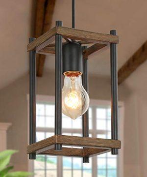 KSANA Pendant Lighting For Kitchen Island Faux Wood Pendant Light Farmhouse Lighting For Dining Foyer Entry Living Room 0 300x360