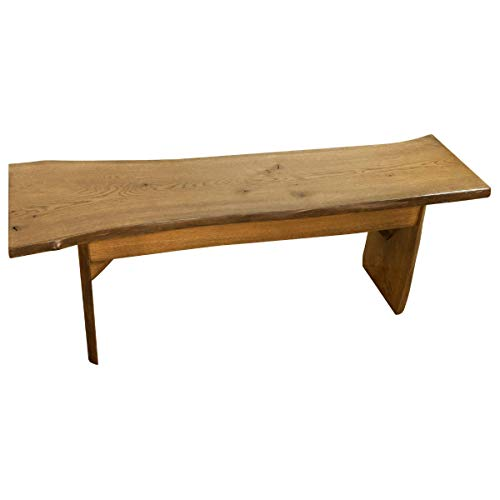 Live Edge Wooden Bench Solid Wood Dining Bench Rustic Home Decor Furniture Natural Edge Wooden Slab Bench 4 Long Oak Wood With Cappuccino Stain 0 0