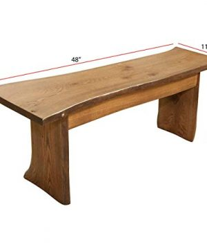 Live Edge Wooden Bench Solid Wood Dining Bench Rustic Home Decor Furniture Natural Edge Wooden Slab Bench 4 Long Oak Wood With Cappuccino Stain 0 2 300x360