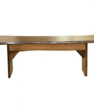 Live Edge Wooden Bench Solid Wood Dining Bench Rustic Home Decor Furniture Natural Edge Wooden Slab Bench 4 Long Oak Wood With Cappuccino Stain 0 300x360