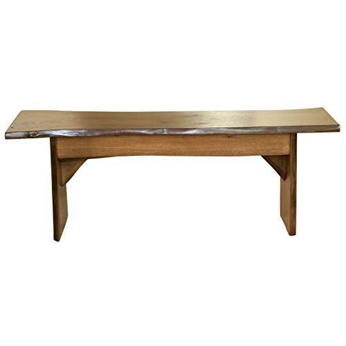 Live Edge Wooden Bench Solid Wood Dining Bench Rustic Home Decor Furniture Natural Edge Wooden Slab Bench 4 Long Oak Wood With Cappuccino Stain 0
