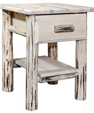Montana Woodworks Montana Collection Nightstand Clear Lacquer Finish 0 300x360
