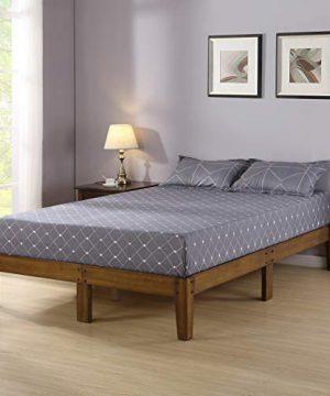 Olee Sleep Smart Wood Platform Bed Frame King Light Brown 0 300x360