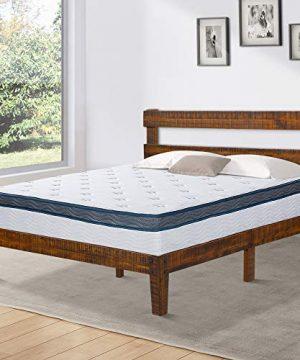 Olee Sleep Solid Wood Platform Headboard Bed Frame Queen Natural 0 300x360
