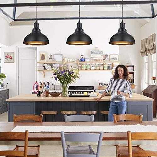 Pendant Lighting Metal Industrial Vintage Hanging Ceiling Black For Kitchen Home Lighting 0 1