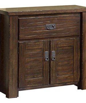 Progressive Furniture Trestlewood Nightstand 31 X 17 X 31 Mesquite Pine 0 300x360