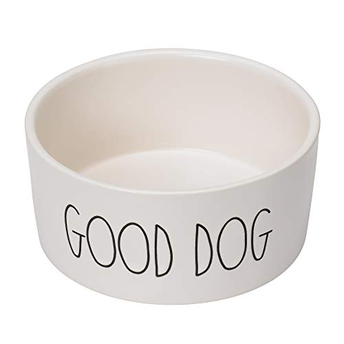 RAE DUNN BY MAGENTA Stoneware Medium Dog Bowl 6 Diameter Cute Saying Good Dog 0 0