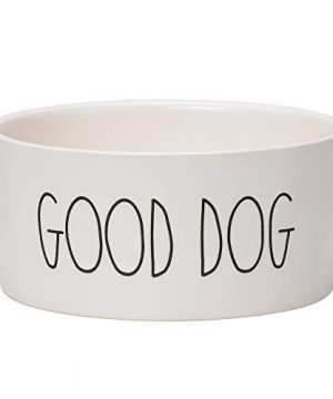 RAE DUNN BY MAGENTA Stoneware Medium Dog Bowl 6 Diameter Cute Saying Good Dog 0 300x360