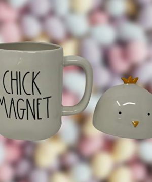 RAE DUNN CHICK MAGNET EASTER COFFEE MUG Artisan Collection By Magenta Super Cute And Adorable Chick Head LidTopper Add This Coffee Tea Mug To Your Rae Dunn Home Decor Collection 0 0 300x360