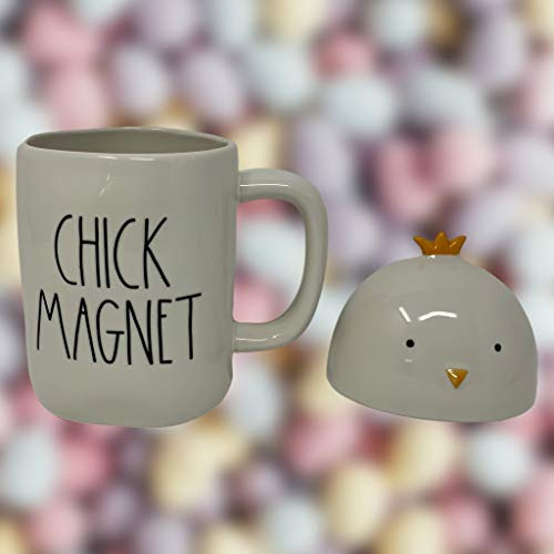 RAE DUNN CHICK MAGNET EASTER COFFEE MUG Artisan Collection By Magenta Super Cute And Adorable Chick Head LidTopper Add This Coffee Tea Mug To Your Rae Dunn Home Decor Collection 0 0