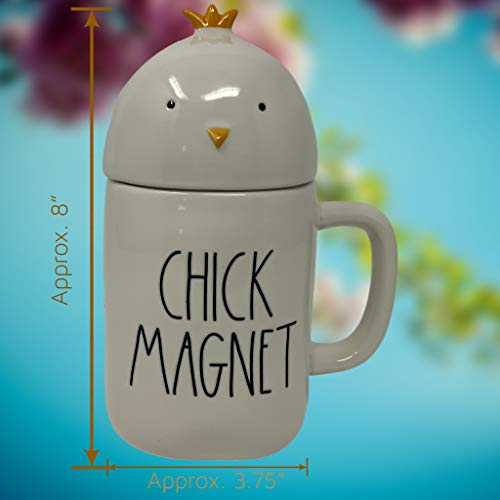 RAE DUNN CHICK MAGNET EASTER COFFEE MUG Artisan Collection By Magenta Super Cute And Adorable Chick Head LidTopper Add This Coffee Tea Mug To Your Rae Dunn Home Decor Collection 0 5