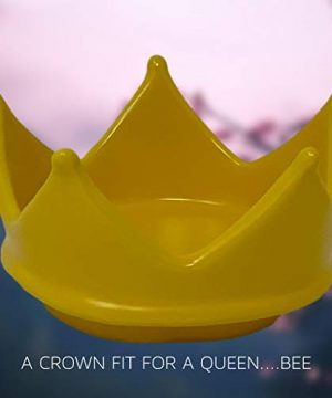 RAE DUNN QUEEN BEE MUG WITH YELLOW CROWN LID TOPPER Artisan Collection By Magenta Perfect Match To All Of Your Rae Dunn Collection And Home Kitchen Decor Perfect For The Queen Bee In Your Life 0 5 300x360