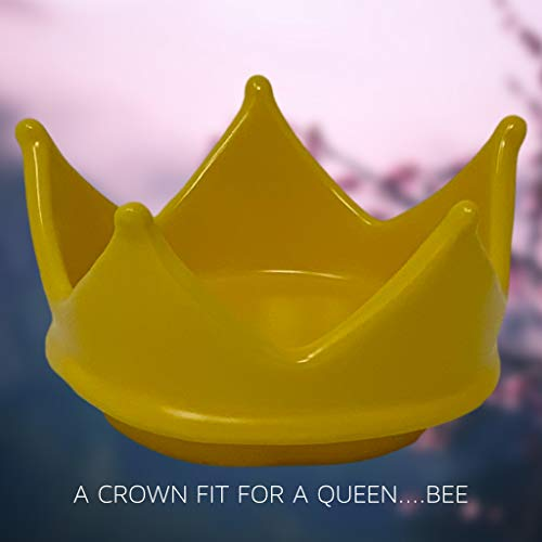 RAE DUNN QUEEN BEE MUG WITH YELLOW CROWN LID TOPPER Artisan Collection By Magenta Perfect Match To All Of Your Rae Dunn Collection And Home Kitchen Decor Perfect For The Queen Bee In Your Life 0 5