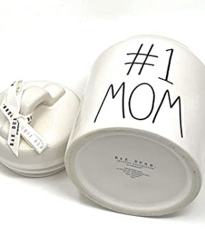 Rae Dunn 1 MOM White Glossy 675 Inch Canister 0 0 300x360