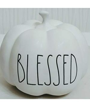Rae Dunn Artisan Collection By Magenta Blessed White LL Small Mini Ceramic Pumpkin 0 300x360